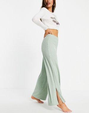 Голубые брюки для дома с разрезами по краю от комплекта -Голубой Gilly Hicks