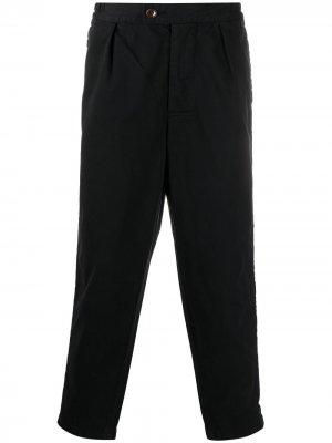 Укороченные брюки прямого кроя Barbour. Цвет: синий