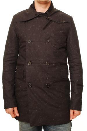 Пальто Denham. Цвет: коричневый