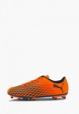 Бутсы PUMA Spirit III FG. Цвет: оранжевый