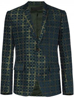 Пиджак с парчовым узором Haider Ackermann. Цвет: синий