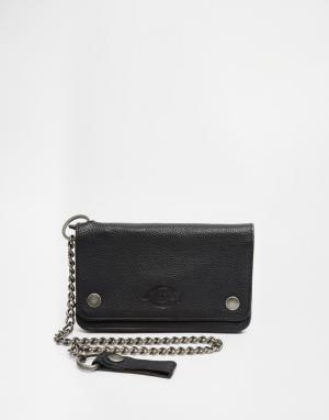 Бумажник с цепочкой Balboa Island Dickies. Цвет: черный