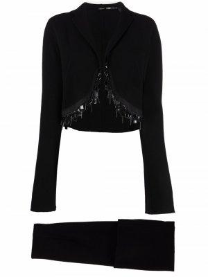 Декорированный костюм 1990-х годов с юбкой Gianfranco Ferré Pre-Owned. Цвет: черный