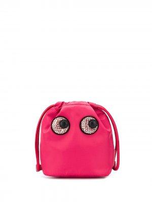 Клатч Eyes с кулиской Anya Hindmarch. Цвет: розовый