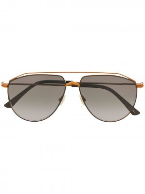 Солнцезащитные очки-авиаторы Lexs Jimmy Choo Eyewear. Цвет: коричневый