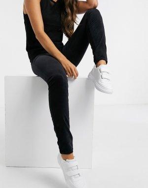 Черные джинсы с завышенной талией Lee-Черный Lee Jeans