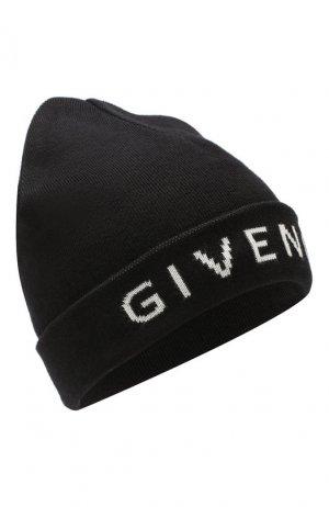 Шапка из смеси хлопка и кашемира Givenchy. Цвет: черно-белый