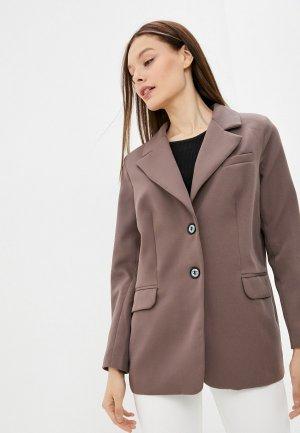 Пиджак Hey Look. Цвет: коричневый