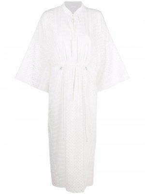 Платье Delias с английской вышивкой Lala Berlin. Цвет: белый
