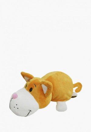 Игрушка мягкая Вывернушка 35 см, 2в1, Оранжевый кот-Бульдог. Цвет: разноцветный
