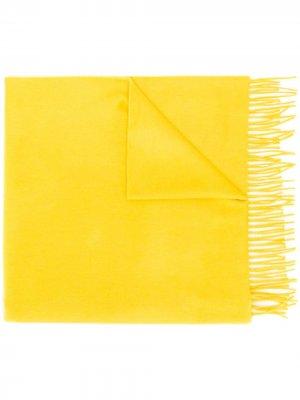 Кашемировый шарф с бахромой Begg & Co. Цвет: желтый