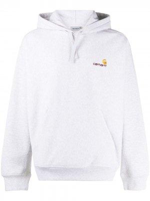 Худи с кулиской и вышитым логотипом Carhartt WIP. Цвет: серый
