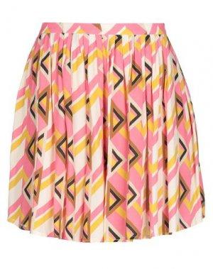 Мини-юбка SUOLI. Цвет: розовый