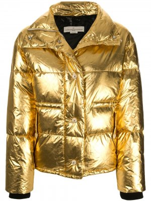 Пальто Yuri с эффектом металлик Golden Goose. Цвет: золотистый