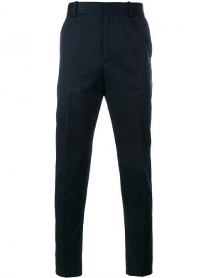 Зауженные брюки чинос Gucci. Цвет: синий