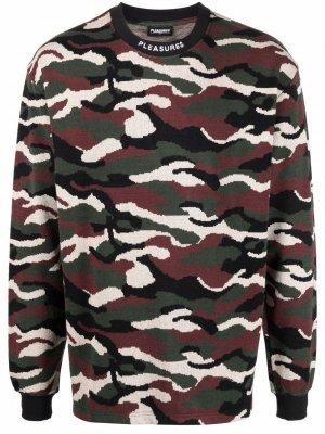 Пуловер с камуфляжным принтом Pleasures. Цвет: зеленый