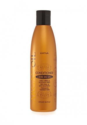 Кондиционер для волос Kativa Увлажняющий с маслом Арганы, 250 мл. Цвет: белый