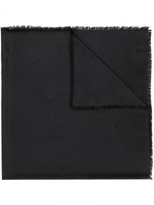 Шарф с логотипом Gucci. Цвет: черный