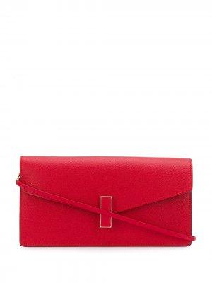 Клатч-конверт Valextra. Цвет: красный