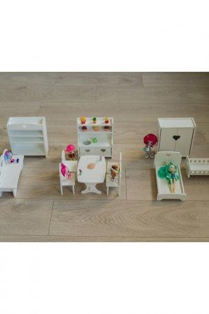 Мебель для кукол 11 предметная Детская1. Цвет: белый