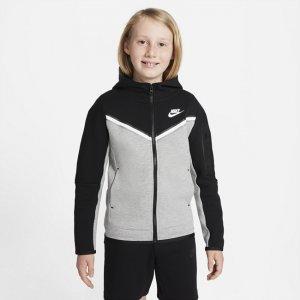 Худи с молнией во всю длину для мальчиков школьного возраста Sportswear Tech Fleece - Черный Nike