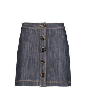 Джинсовая юбка ADAM LIPPES. Цвет: синий