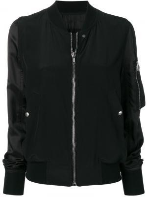Куртка-бомбер с контрастными рукавами Rick Owens