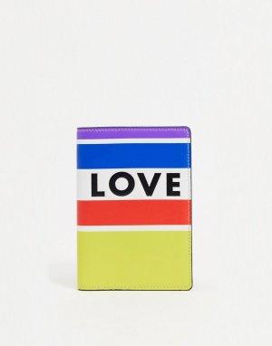 Кожаная обложка для паспорта в разноцветную полоску -Многоцветный Rebecca Minkoff