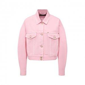 Джинсовая куртка Versace. Цвет: розовый