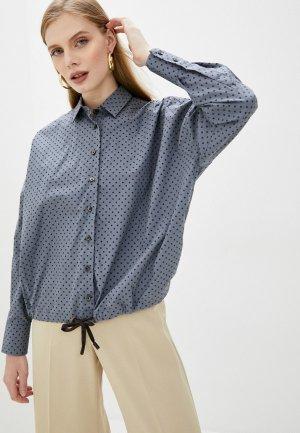 Рубашка Naumi. Цвет: синий
