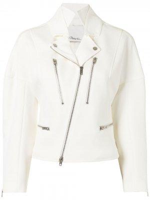 Байкерская куртка с капюшоном 3.1 Phillip Lim. Цвет: белый