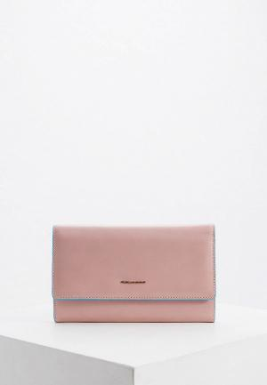 Кошелек Piquadro. Цвет: розовый