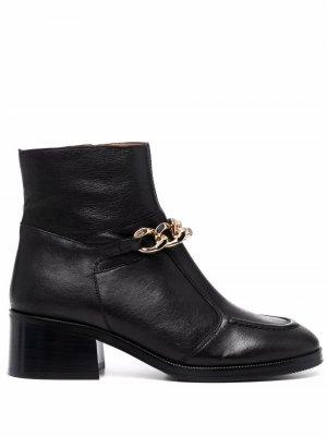 Ботинки с цепочкой See by Chloé. Цвет: черный