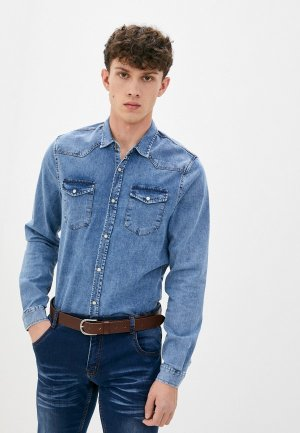 Рубашка джинсовая DeFacto. Цвет: синий
