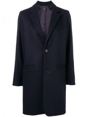 Пальто свободного кроя A.P.C.. Цвет: синий
