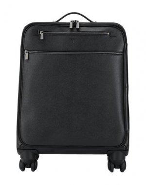 Чемодан/сумка на колесиках SERAPIAN. Цвет: черный