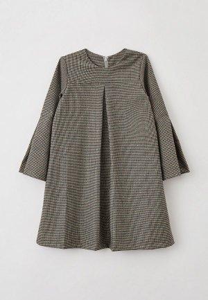 Платье Ete Children. Цвет: коричневый
