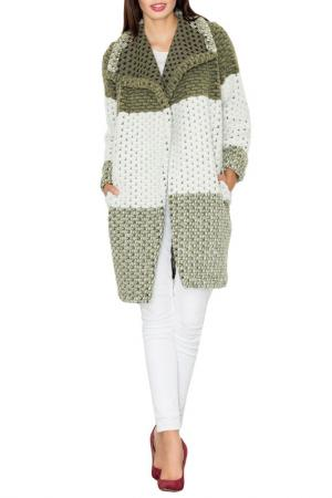 Пальто Figl. Цвет: green, white