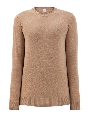 Пуловер из кашемировой пряжи ELEVENTY. Цвет: коричневый