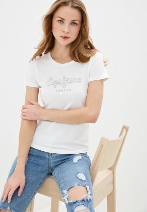 Футболка Pepe Jeans. Цвет: белый