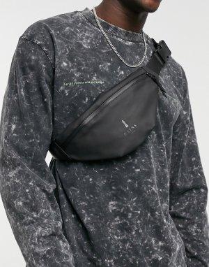 Черная сумка-кошелек на пояс 1313-Черный цвет Rains