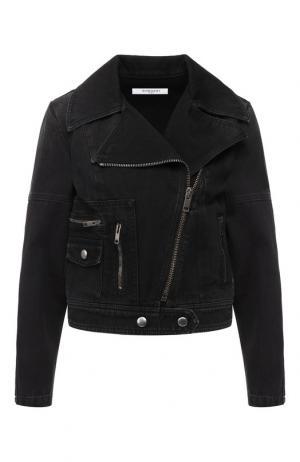 Джинсовая куртка с косой молнией Givenchy. Цвет: черный