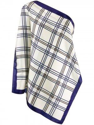 Топ без рукавов в клетку с шарфом Jejia. Цвет: нейтральные цвета