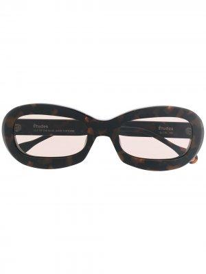 Солнцезащитные очки Out Of Blue Etudes. Цвет: коричневый