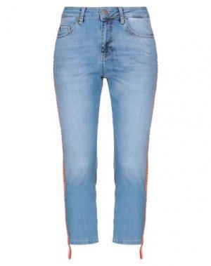 Джинсовые брюки-капри YAYA. Цвет: синий