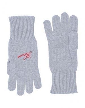 Перчатки RAF SIMONS. Цвет: серый