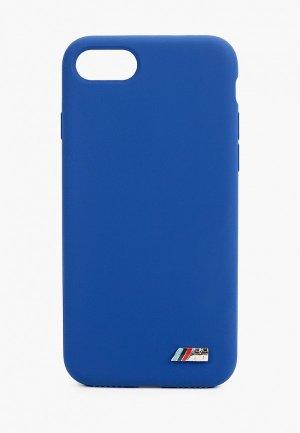 Чехол для iPhone BMW 8 / SE 2020, M-collection Signature Liquid silicone Navy. Цвет: синий