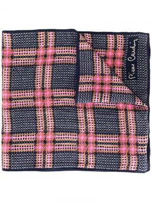 Клетчатый шарф Pierre Cardin Pre-Owned. Цвет: синий