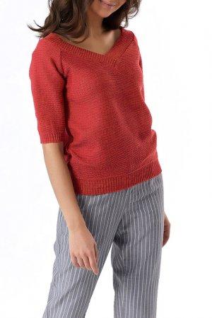 Пуловер Fly. Цвет: кирпичный