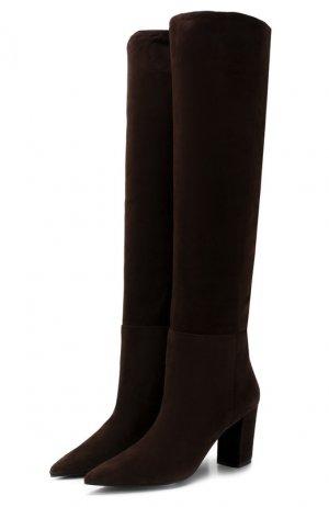 Замшевые сапоги Baldan. Цвет: коричневый